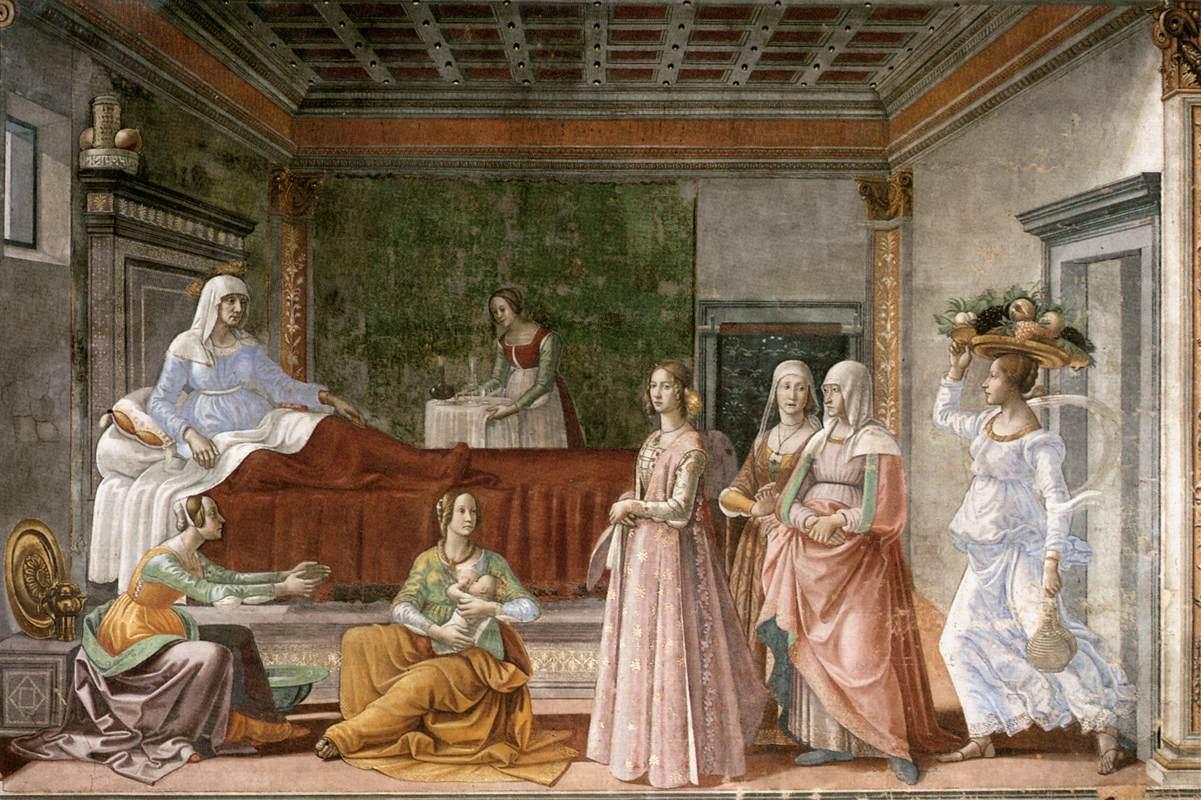 Birth of John Baptist - Ghirlandaio 1486