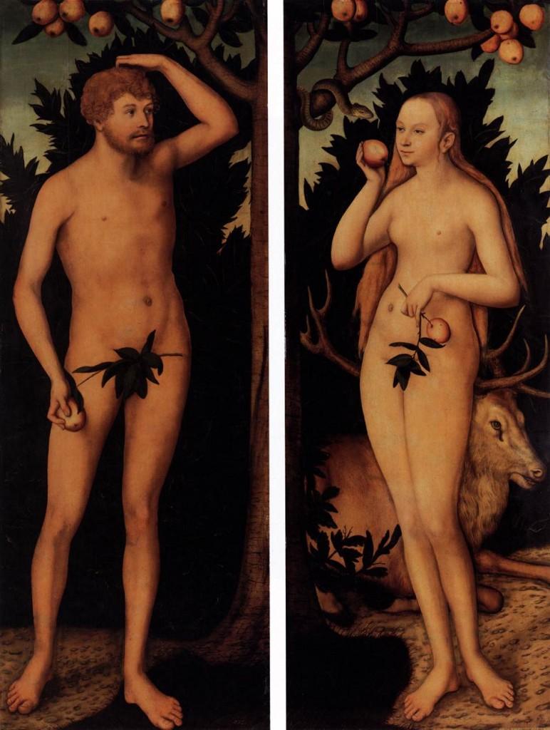 Adam & Eve - Cranach 1537