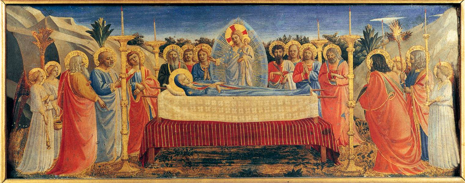 The Dormition of the Virgin - Fra Angelico 1431