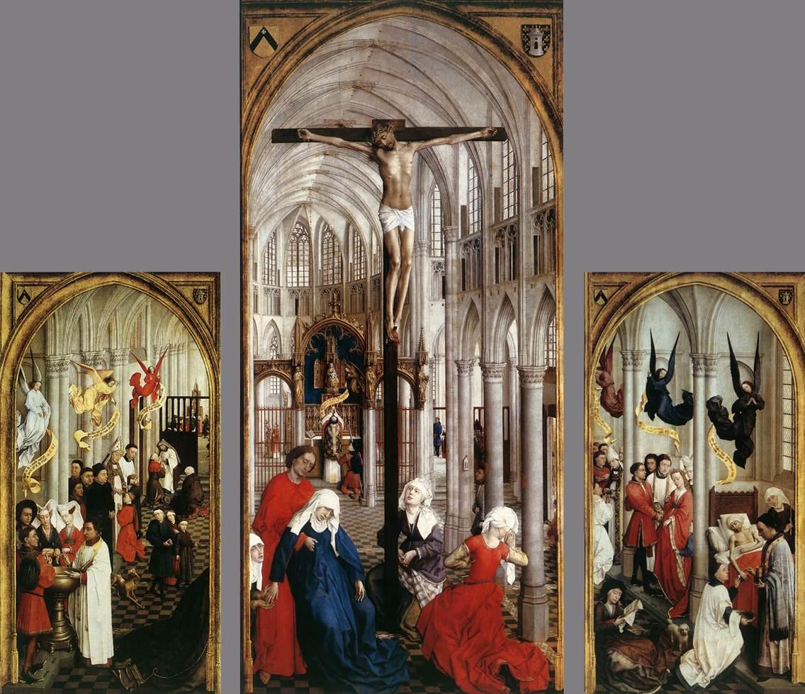 The Seven Sacraments Altar Piece - Weyden 1445