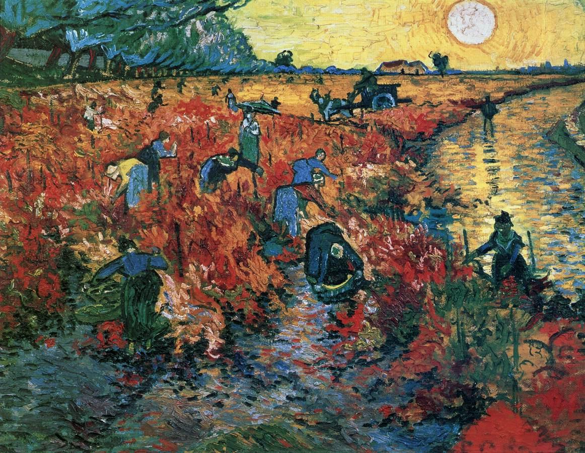 The Red Vineyard - Van Gogh 1888
