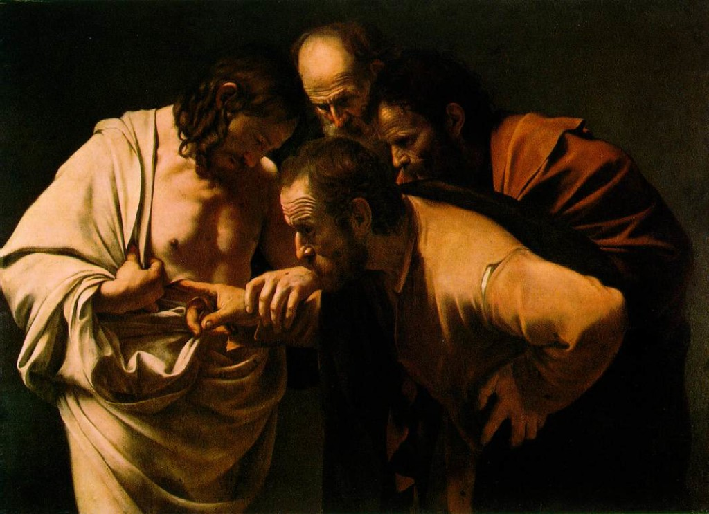 The Incredulity of St. Thomas - Caravaggio 1601