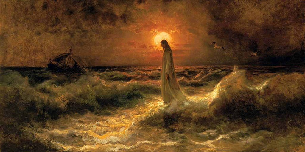 Christ Walking on Water - Von Klever 1880
