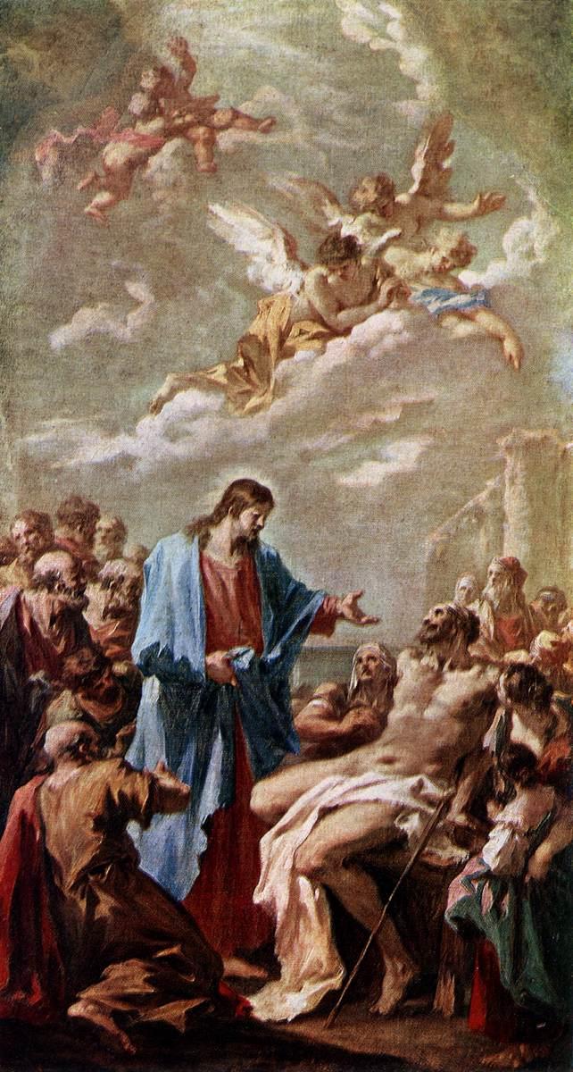 Christ Healing the Paralytic -  Pellegrini 1730