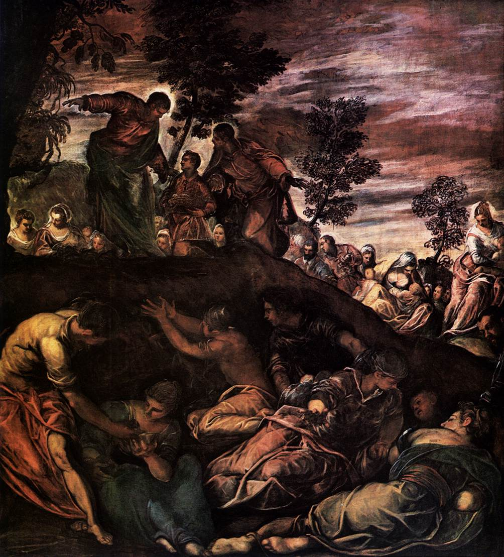 The Miracle of the Loaves and Fishes - Tintoretto