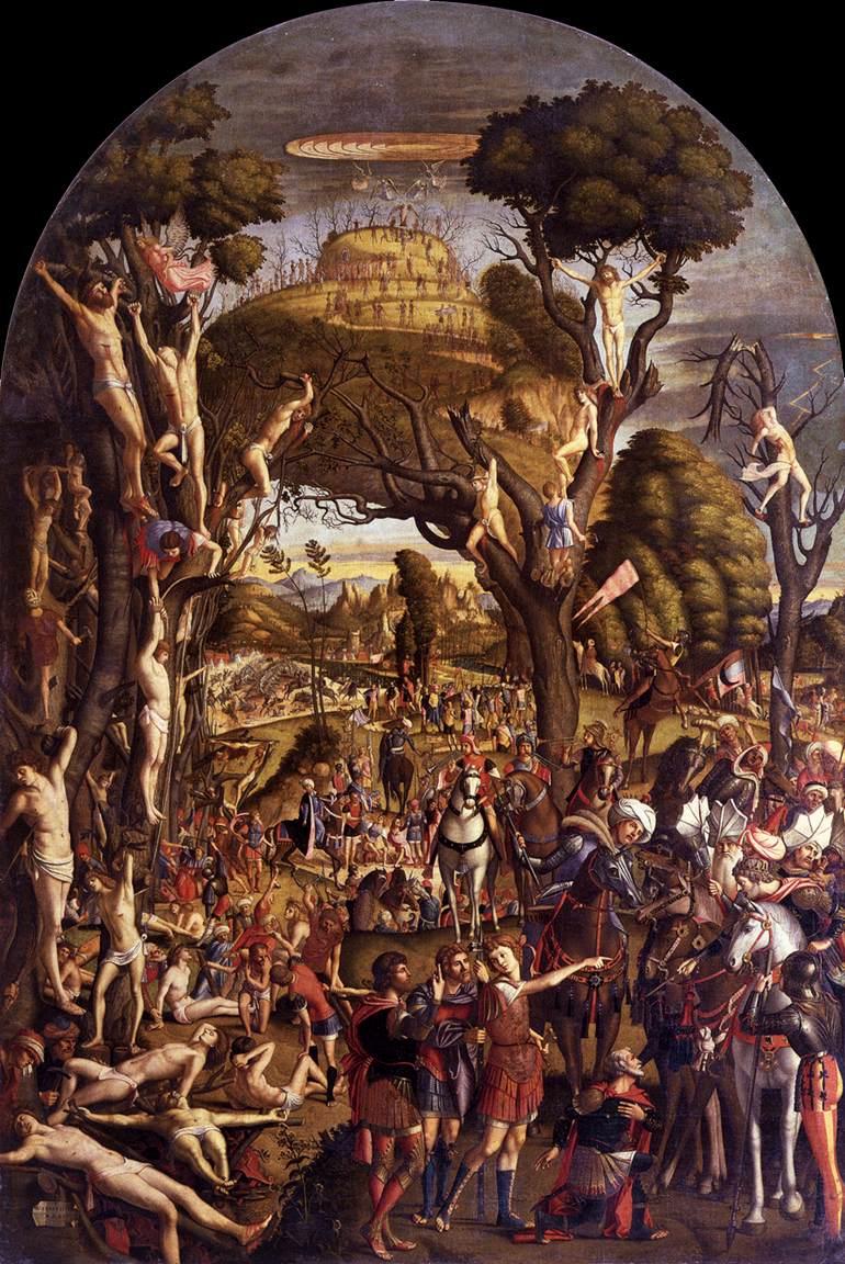 Crucifixion & Apotheosis of Martyrs - Caropaccio
