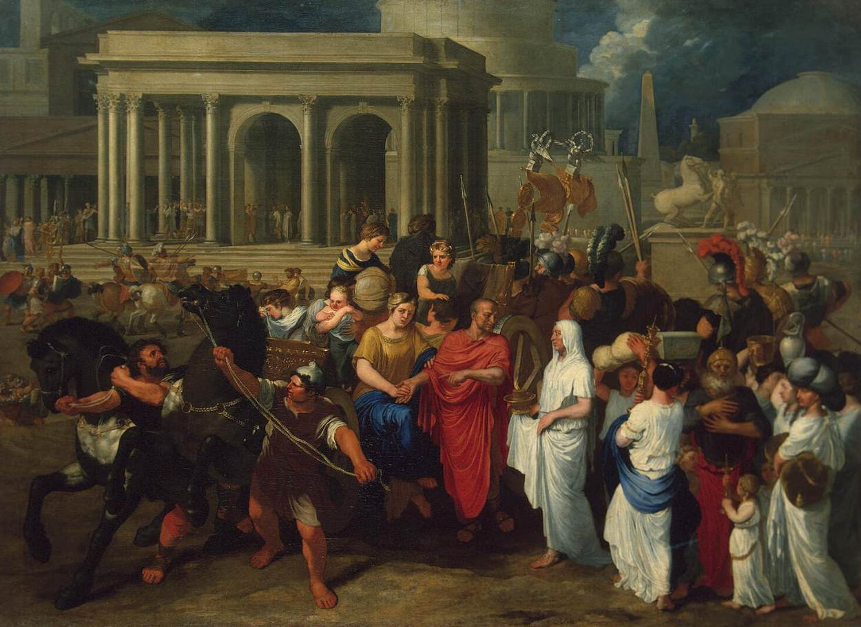 A Roman General Gives his Carriage to the Vestal Virgins