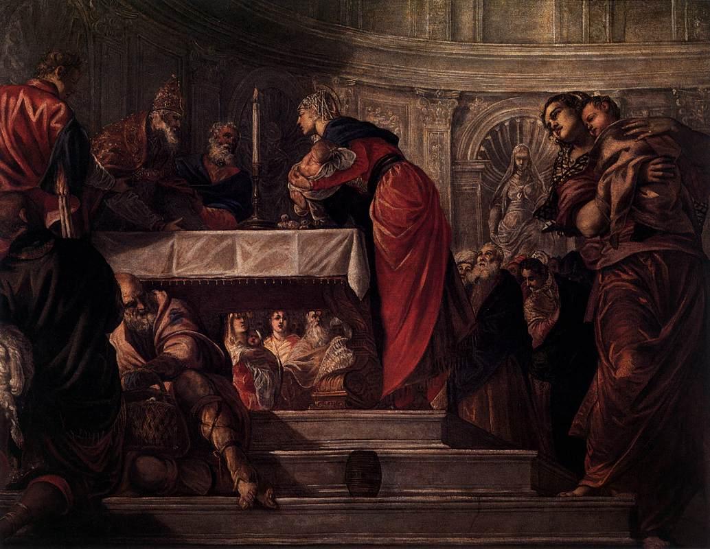 The Presentation - Tintoretto  - 1550