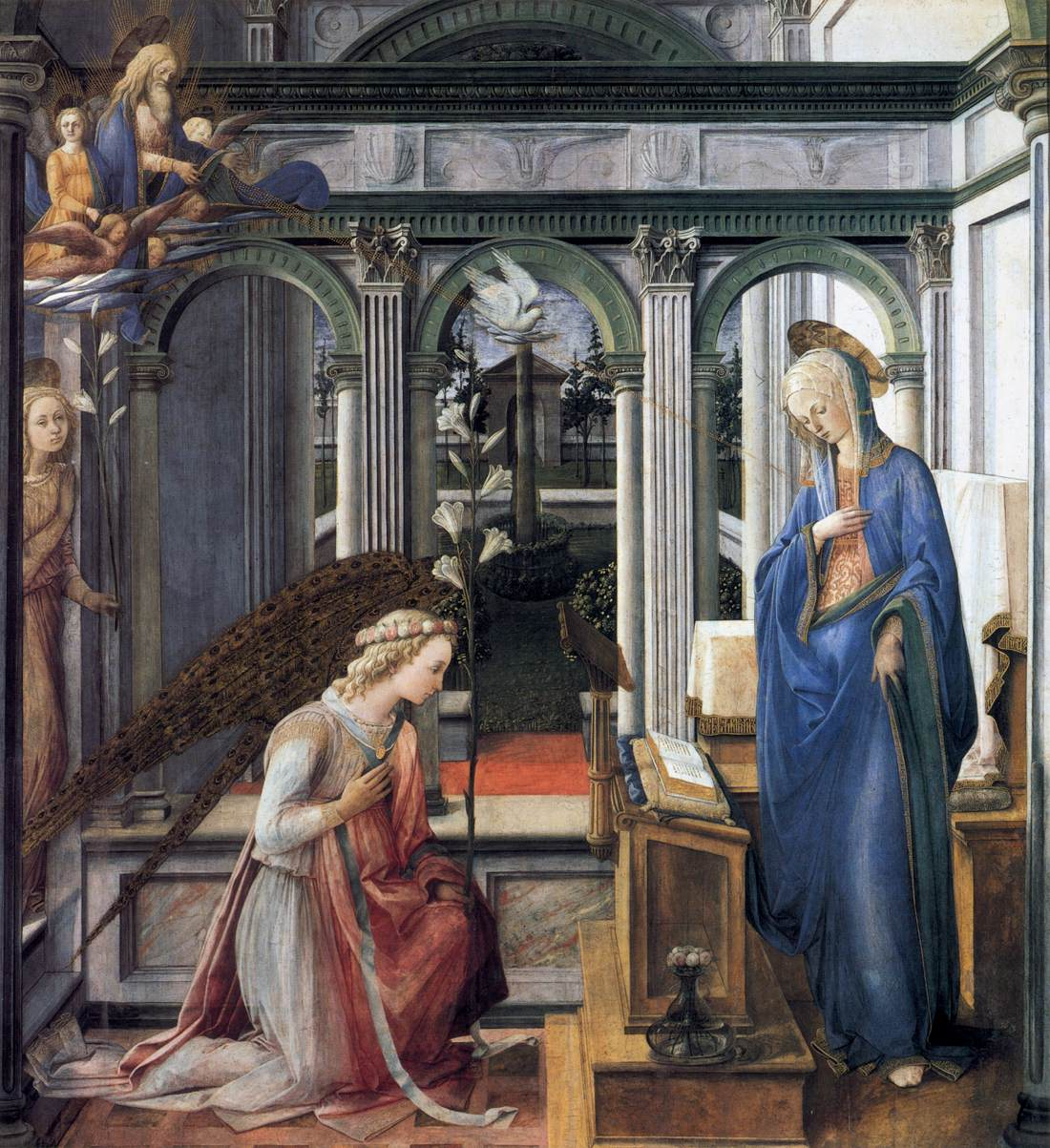 The Annunciation - Lippi 1443