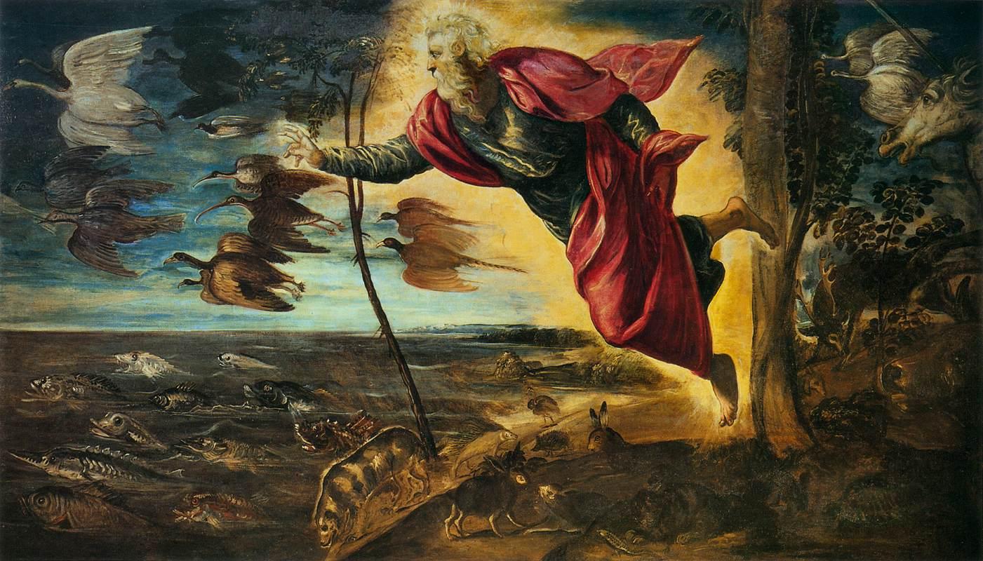 Creation of Animals - Tintoretto 1551