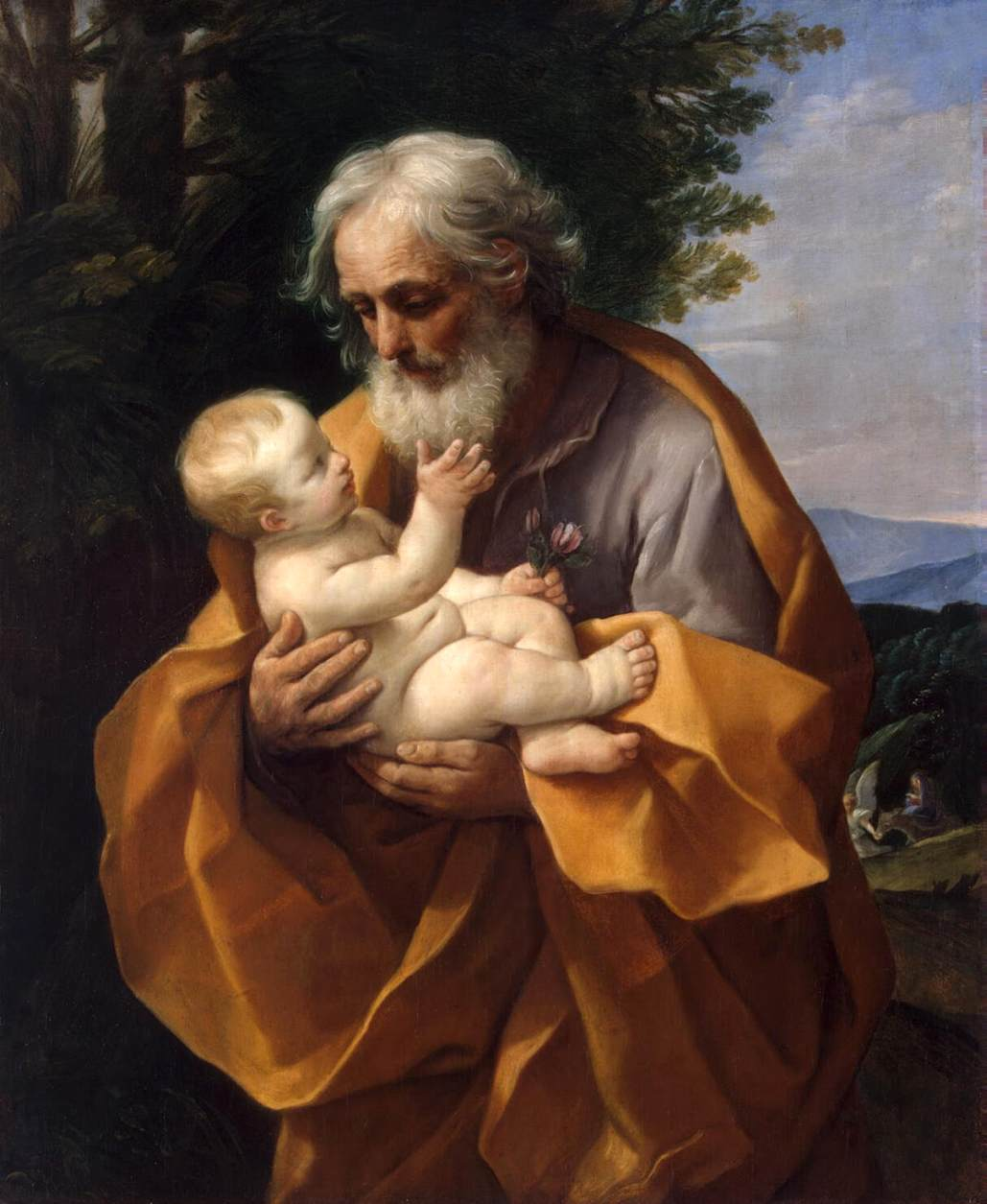 St. Joseph with the Infant - Reni 1620s