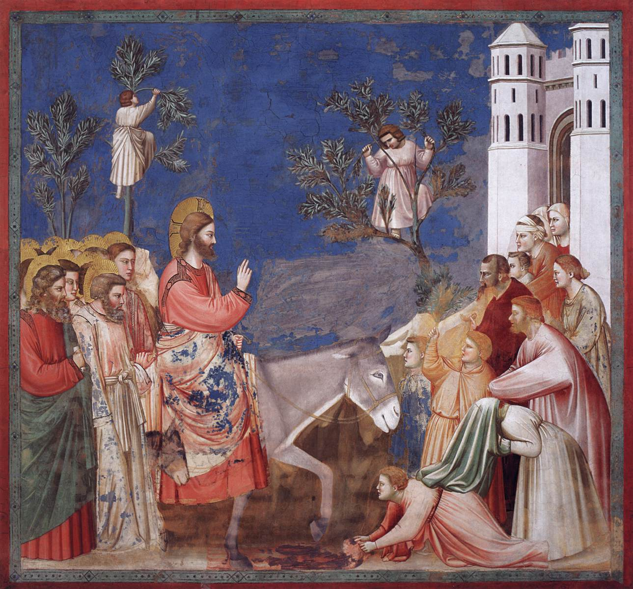 Entry into Jerusalem - Giotto 1304