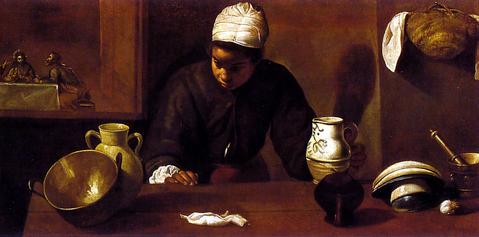 Kitchen with the Supper at Emmaus - Velazquez 1618