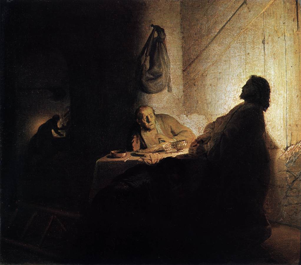 Supper at Emmaus - Rembrandt 1629