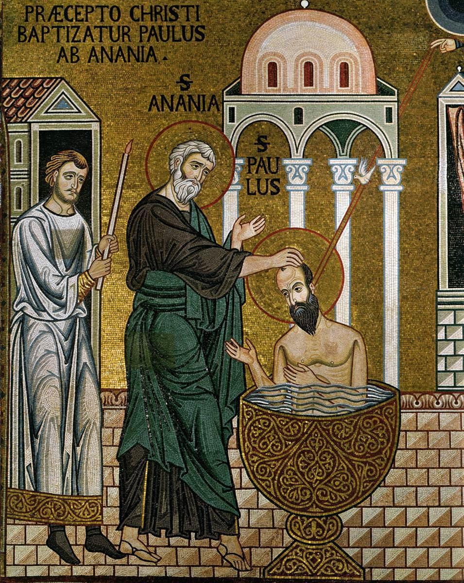 Baptism of St. Paul - Cappella Palatina 1140