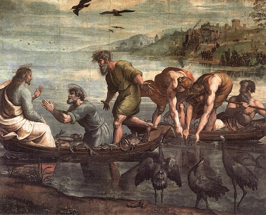 Great Draught of Fishes - Raffaello - 1515
