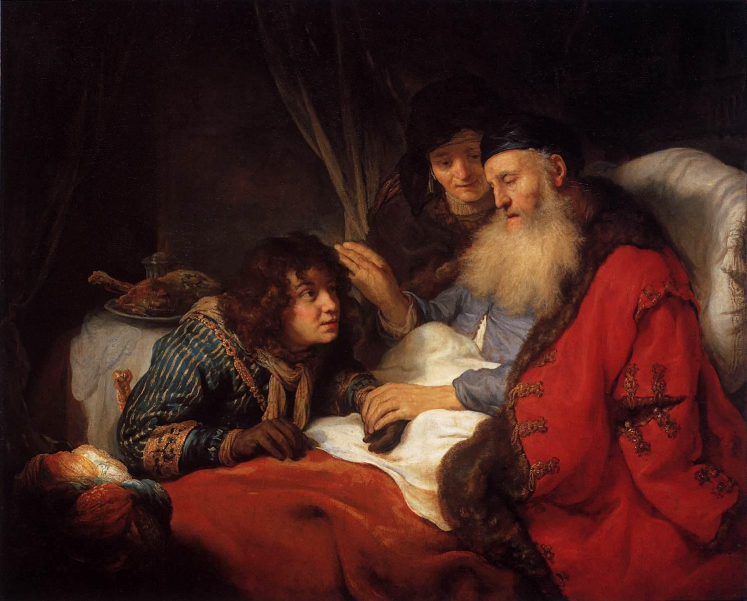 Isaac blessing Jacob - Flinck 1639