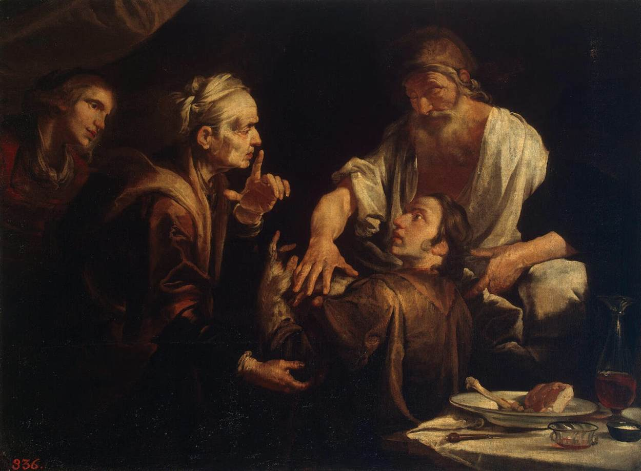 Isaac Blessing Jacob - Assereto 1640s