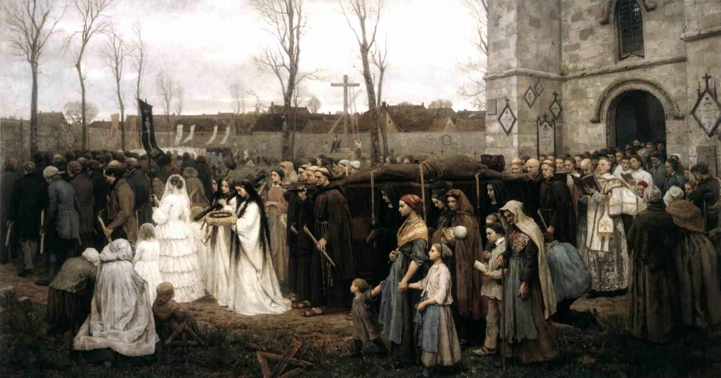 Erecting a Calvary - Jules Breton 1858