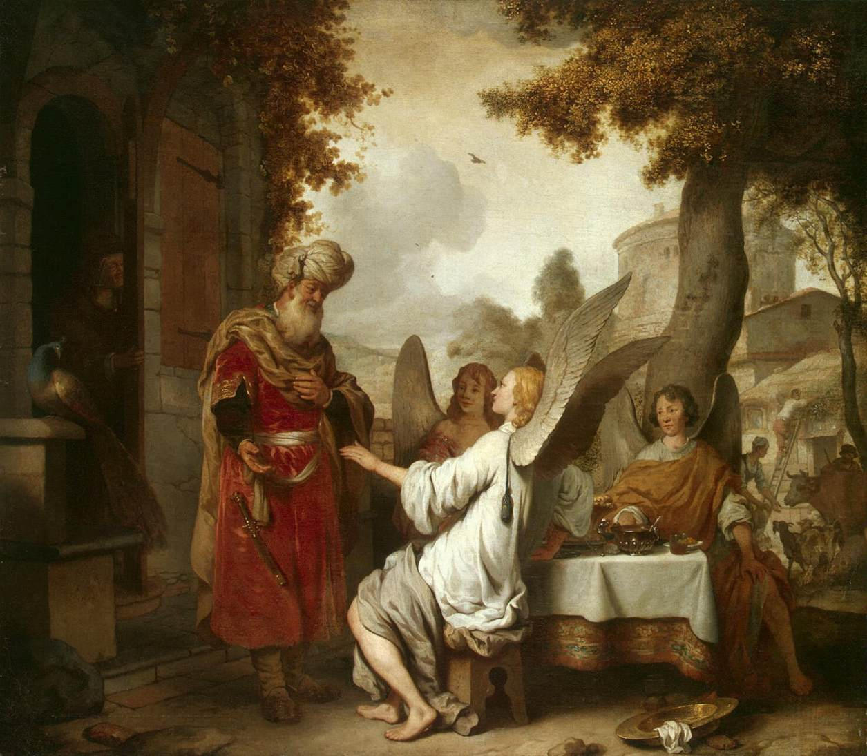 Abraham and the Three Angles - Eeckhout 1656