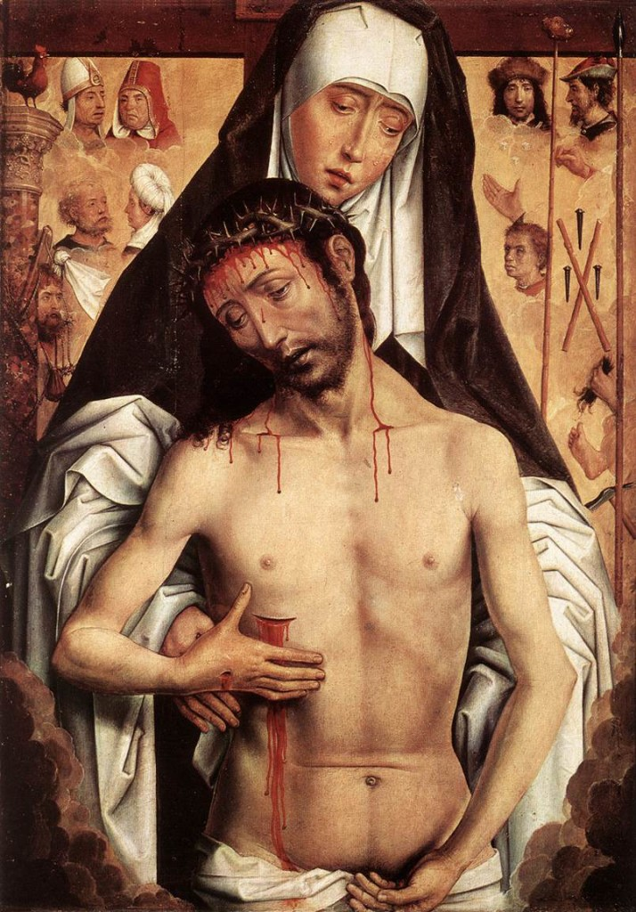 Virgin Showing the Man of Sorrows - Memling 1480
