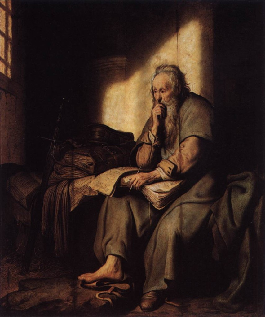 St. Paul in Prison - Rembrandt 1635