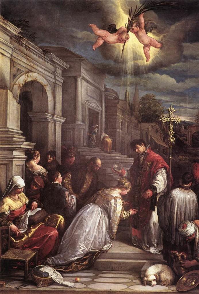 St. Valentine baptizing St. Lucilla - Bassano 1575