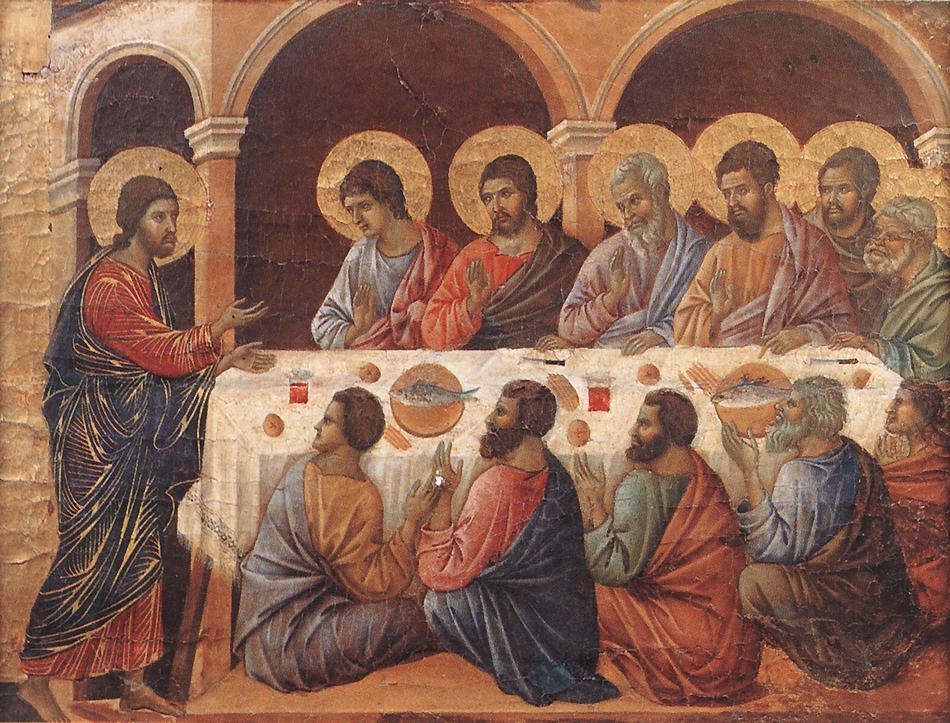 Jesus appears to his disciples - Duccio 1308