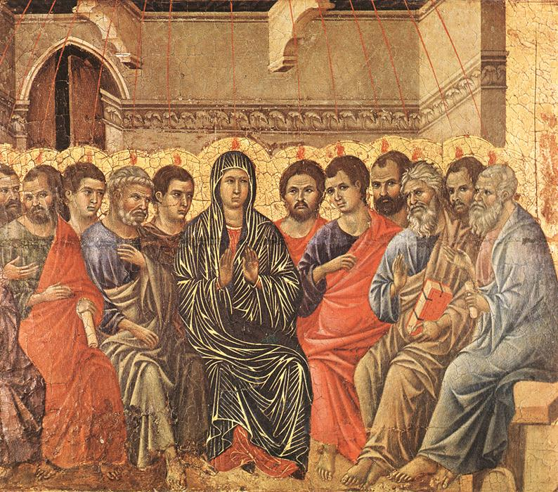 Pentecost - di Buoninsegna 1308