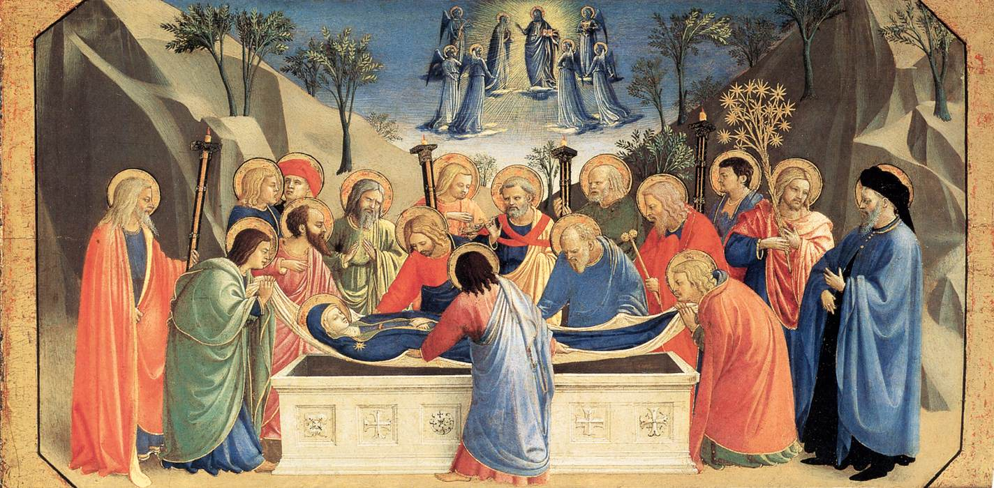 Burial of the Virgin and Reception of her Soul into Heaven - Angelico 1434