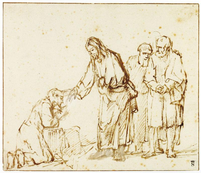 Christ healing - Rembrandt