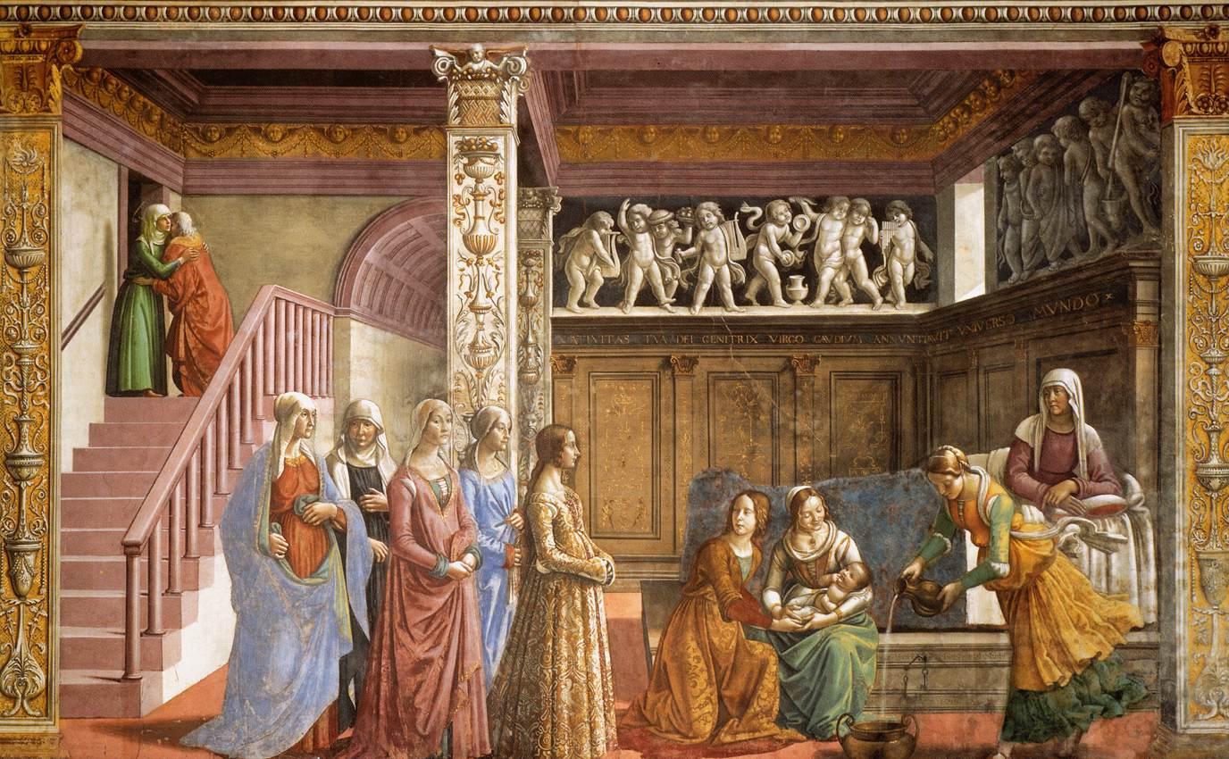 Nativity of Mary - Ghirlandaio 1486