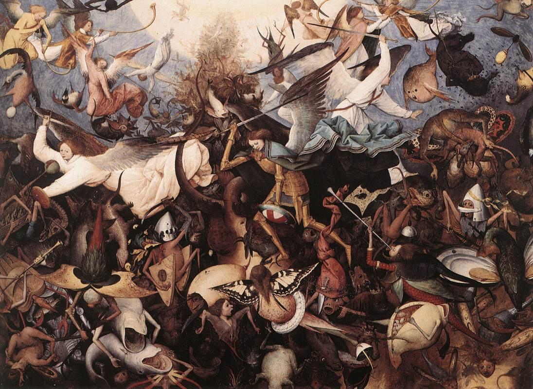 Fall of the Rebel Angels - Bruegel 1566