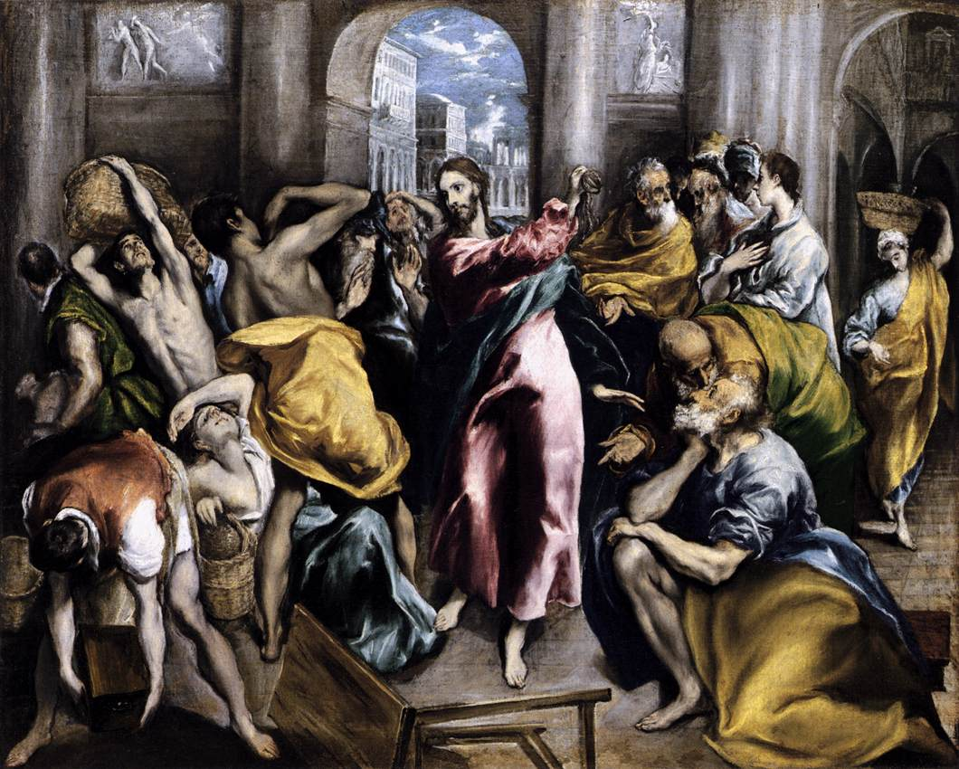 Cleansing the Temple - El Greco  1571