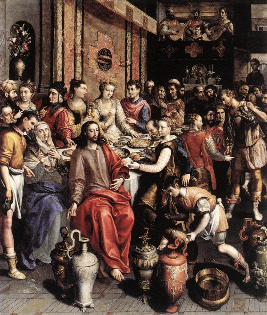 The Marriage at Cana - Vos 1596