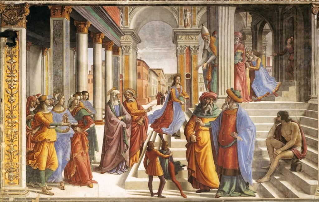 Presentation of the Virgin - Ghirlandaio 1486