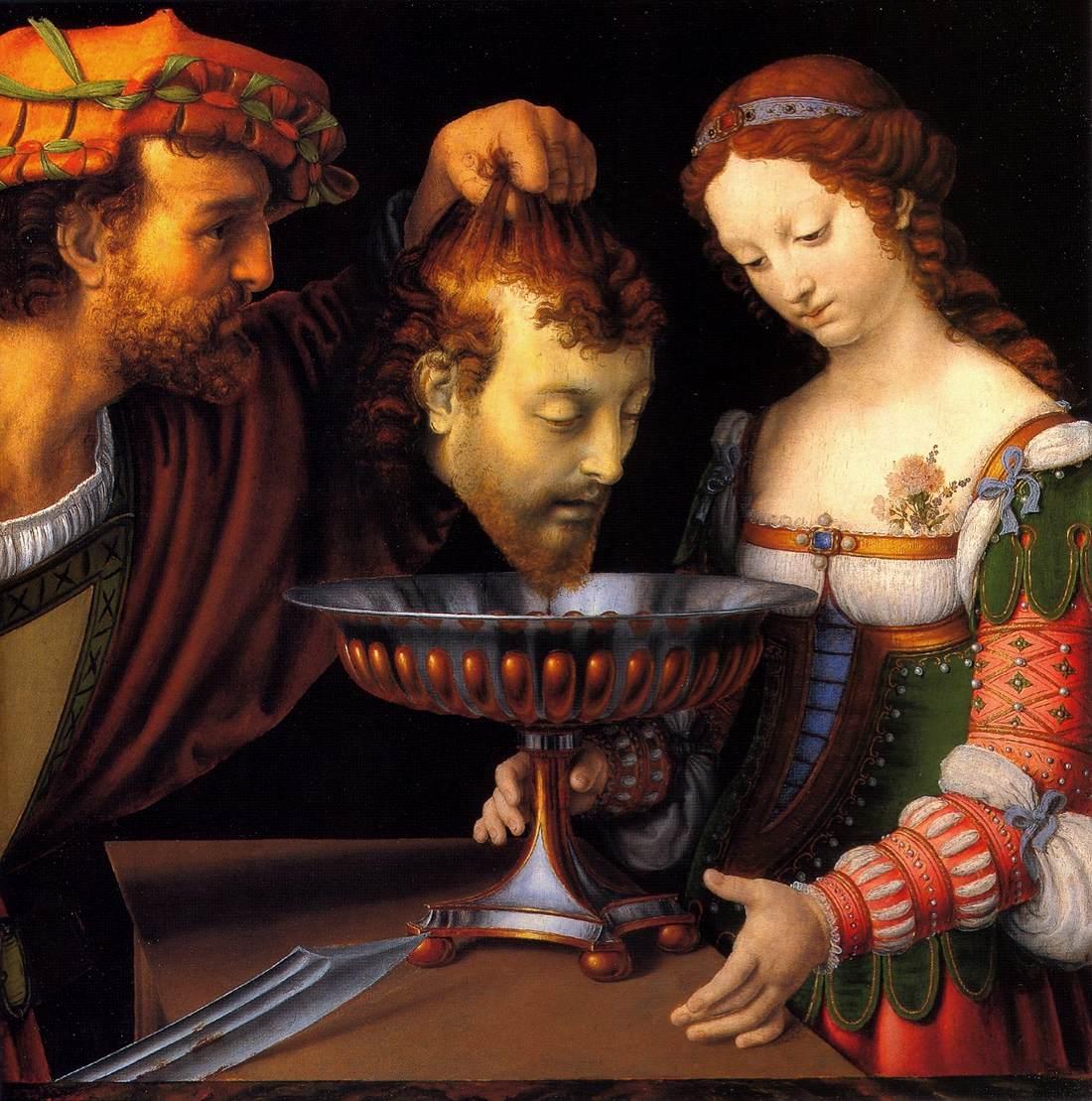 Salome with the Head of John Baptist - Solario 1507