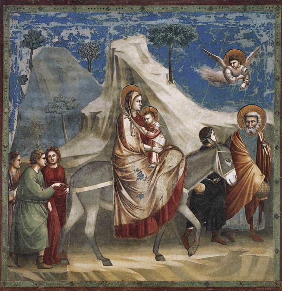 Flight into Egypt - Giotto 1304