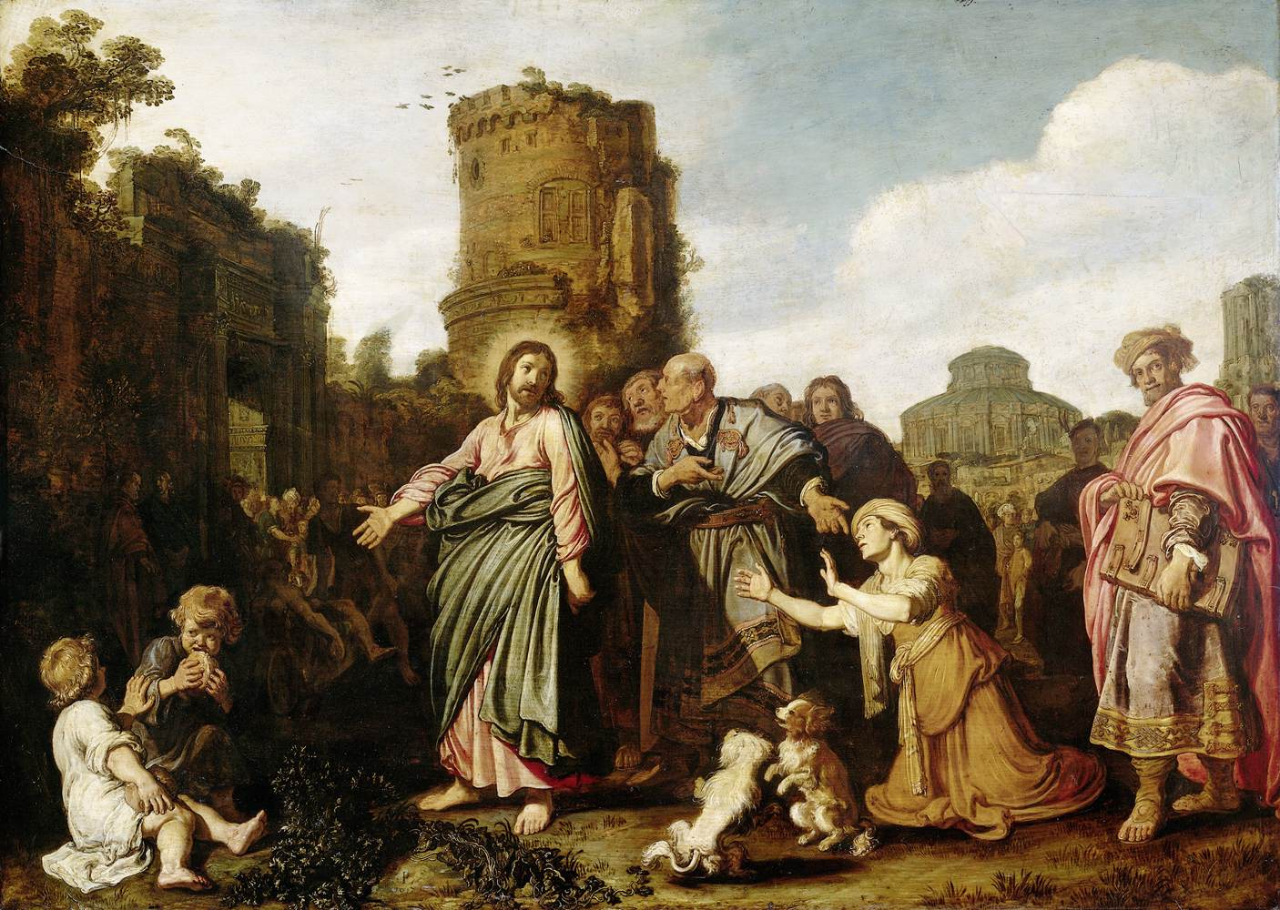 Christ & the Canannite Woman -- Lastman 1617