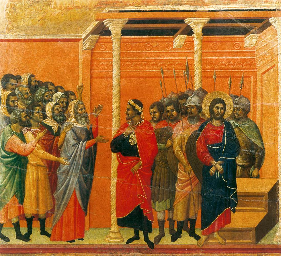 Christ Accused by the Pharisees - Duccio 1308
