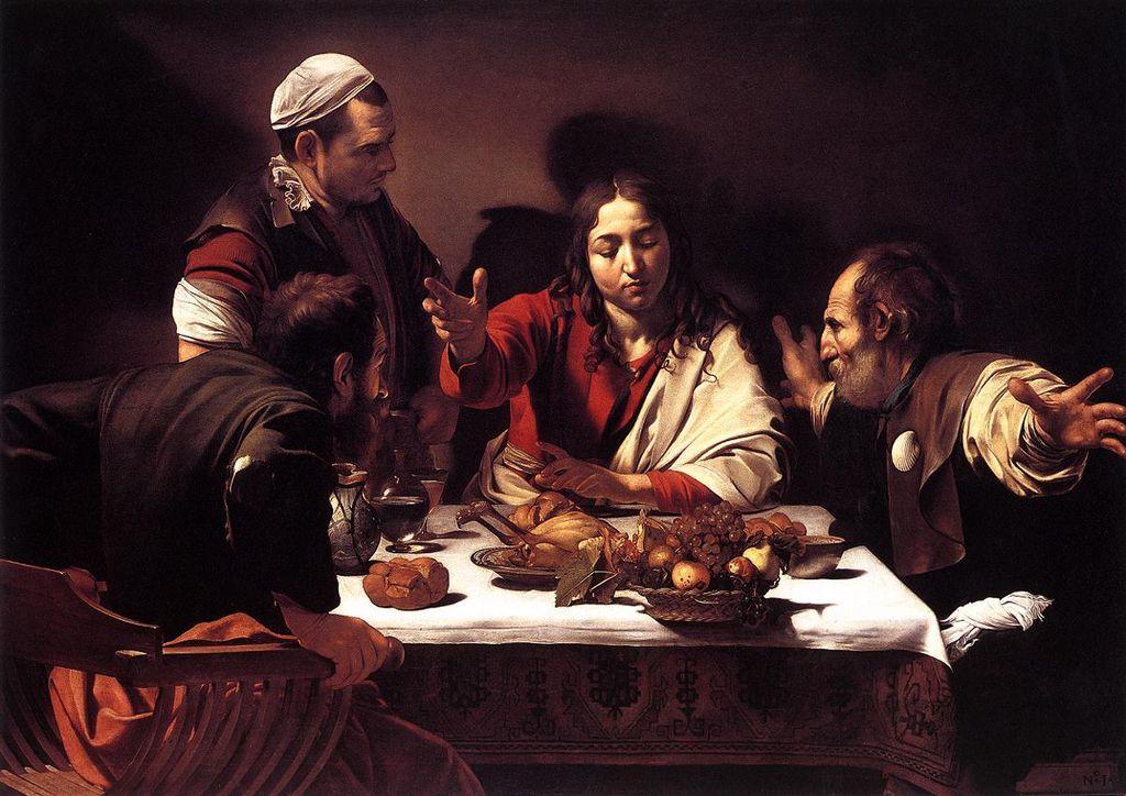 Supper at Emmaus - Caravaggio 1602