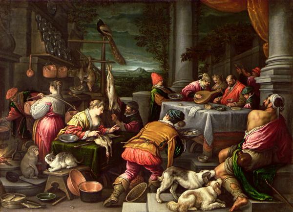 The Rich Man & Lazarus - Bassano  1590