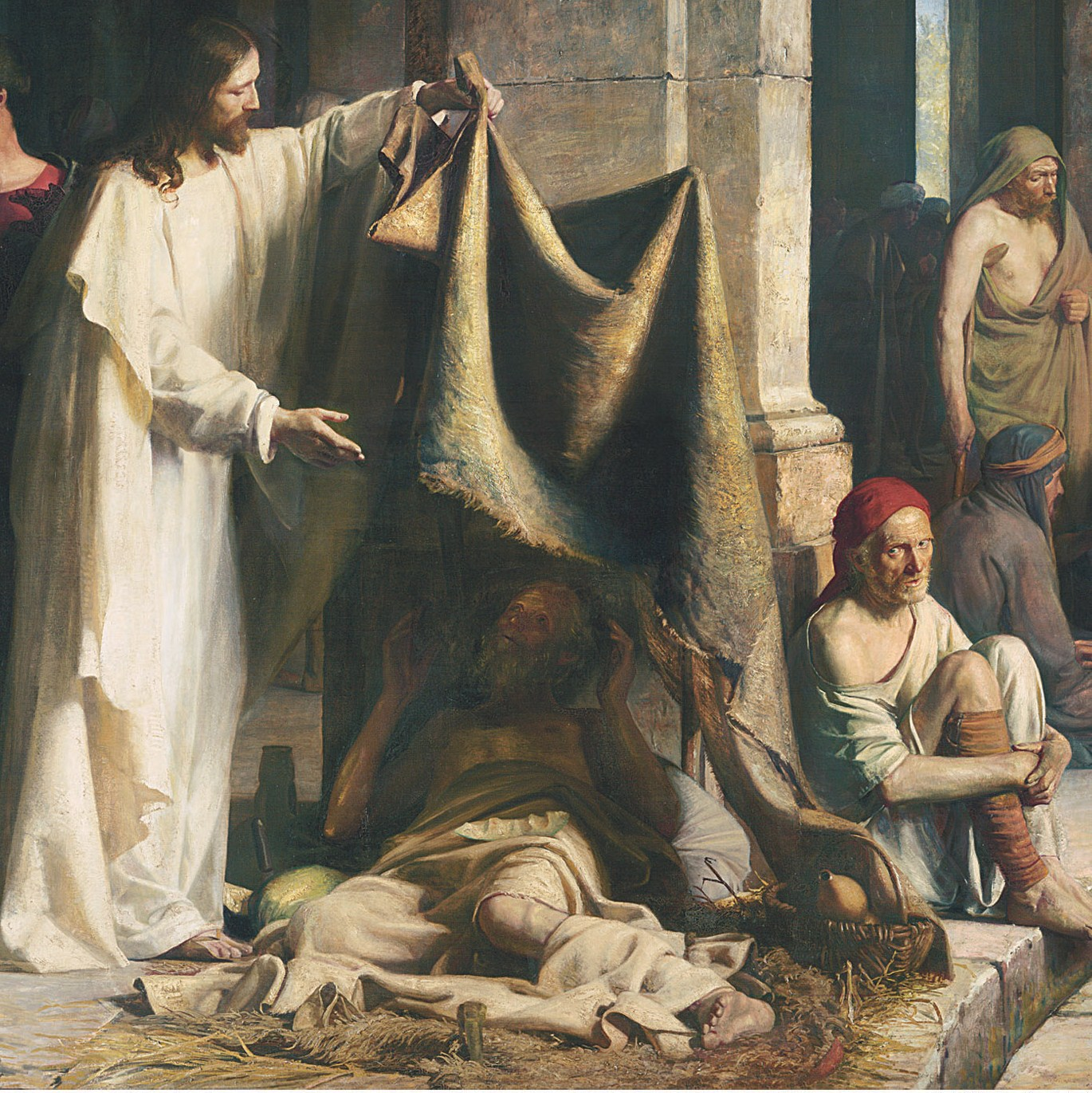 Jesus Healing the Lame - Bloch