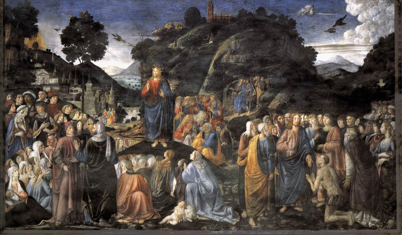 Christ Teaching the Multitude - Rosselli 1481